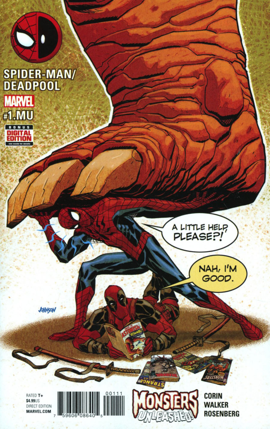 Spider-Man Deadpool #1 MU Cover A Regular Dave Johson Cover (Monsters Unleashed Tie-In)