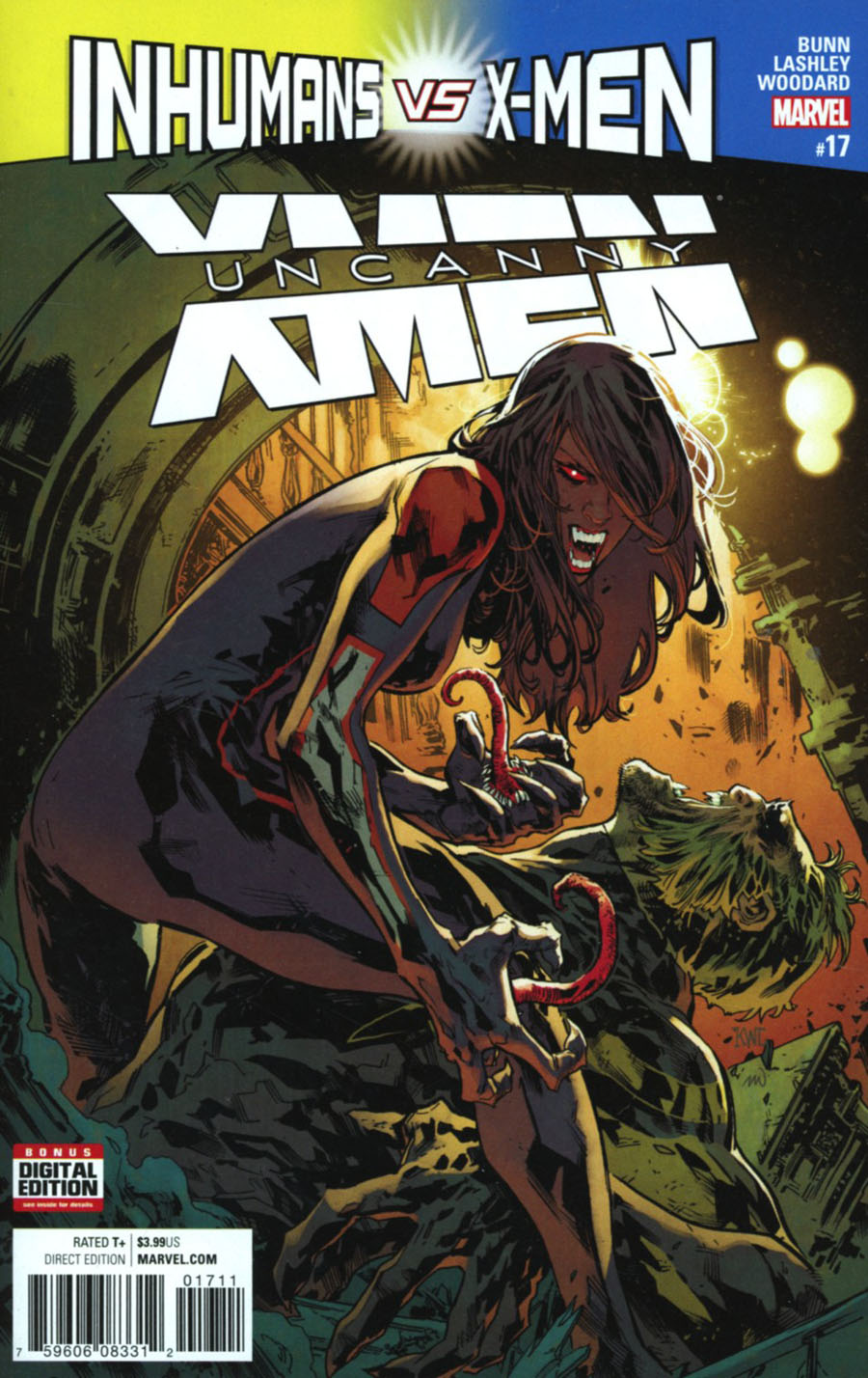 Uncanny X-Men Vol 4 #17 Cover A Regular Ken Lashley Cover (Inhumans vs X-Men Tie-In)