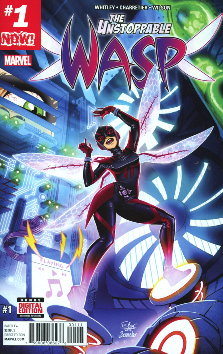 Unstoppable Wasp #1 Cover A 1st Ptg Regular Elsa Charretier Cover (Marvel Now Tie-In)