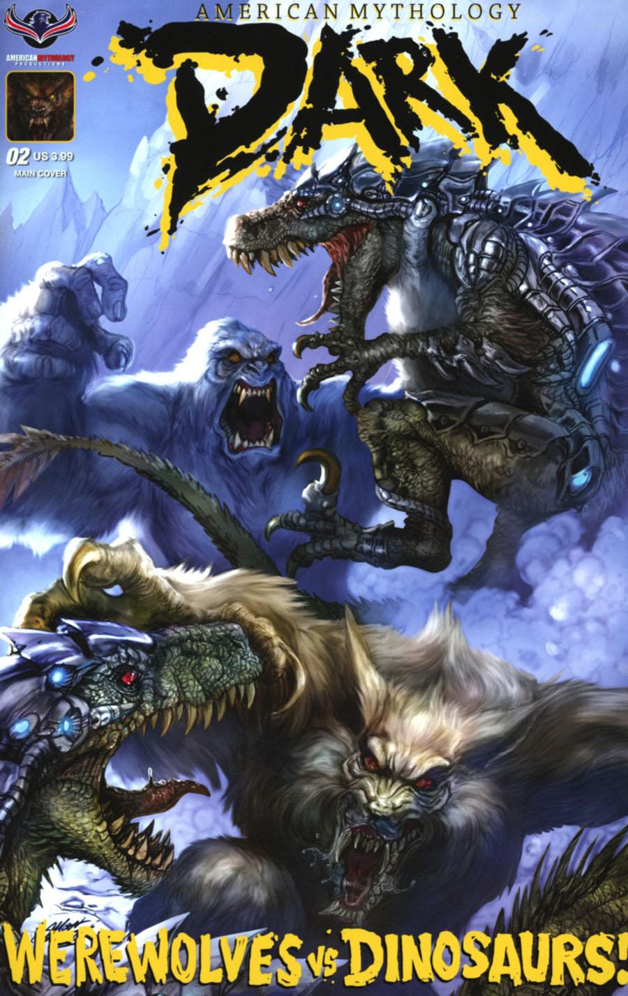 American Mythology Dark Werewolves vs Dinosaurs vs Yetis Cover A Regular Matt Frank & Chris Scalf Cover