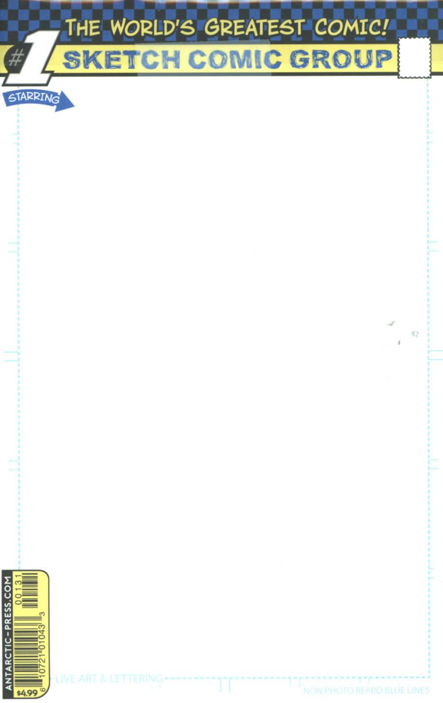 AP Blueline Sketch Comic 5-Pack
