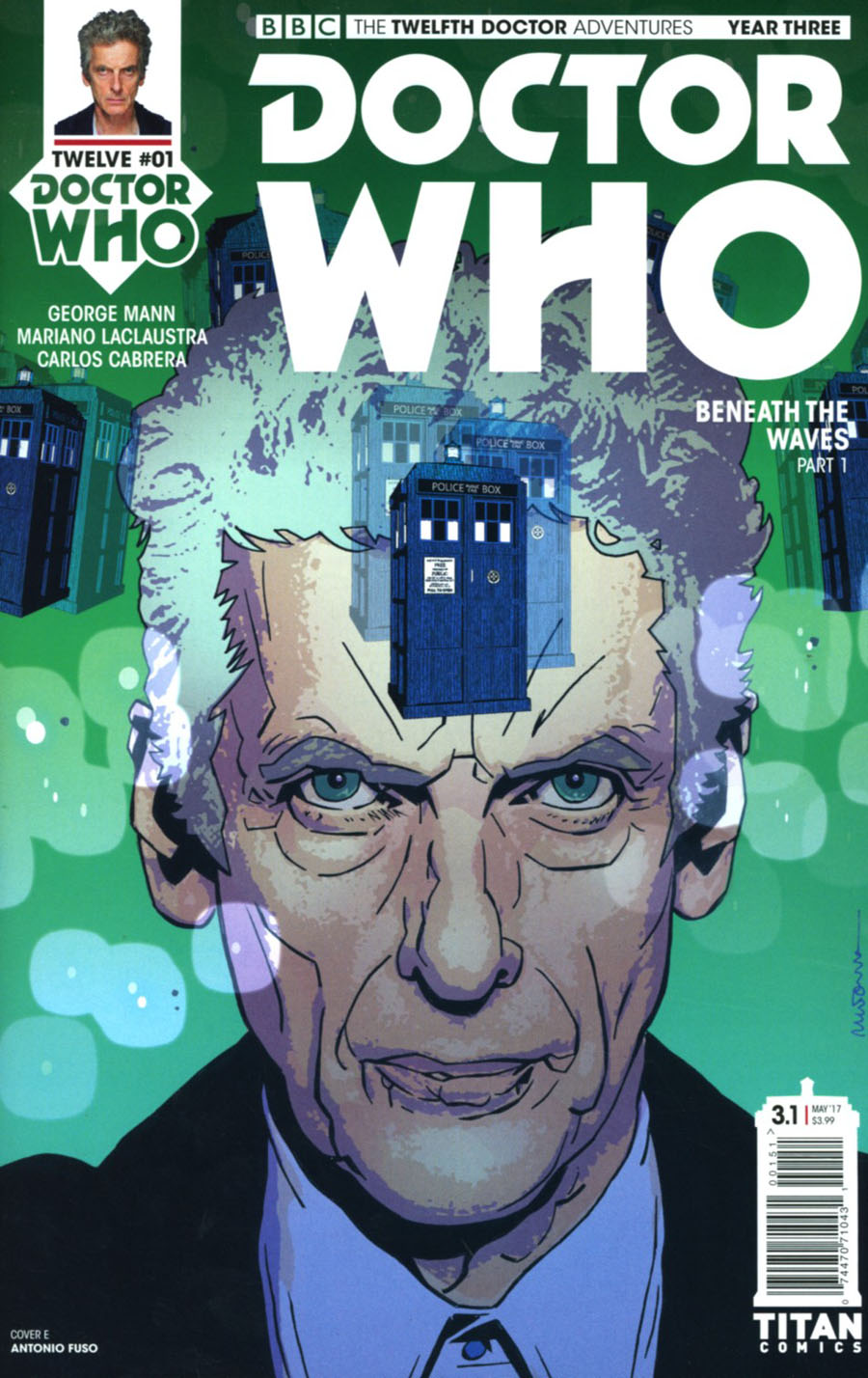 Doctor Who 12th Doctor Year Three #1 Cover E Variant Antonio Fuso Cover