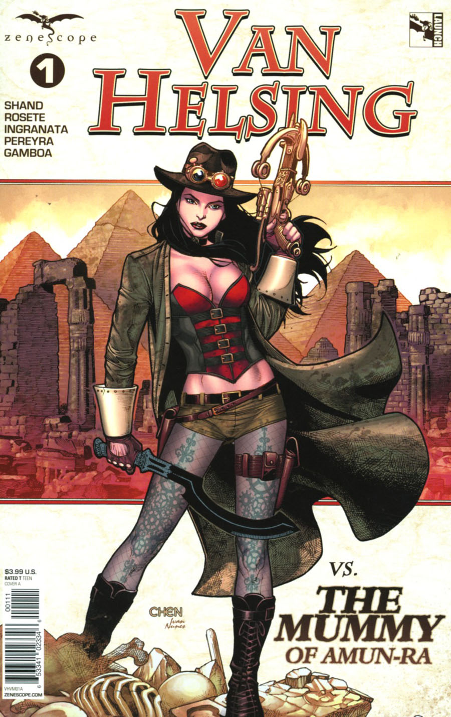 Grimm Fairy Tales Presents Van Helsing vs The Mummy Of Amun-Ra #1 Cover A Sean Chen