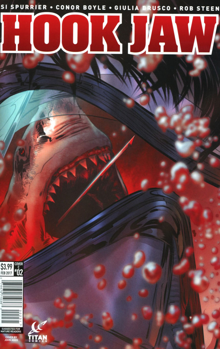 Hookjaw #2 Cover C Variant John Aggs Cover
