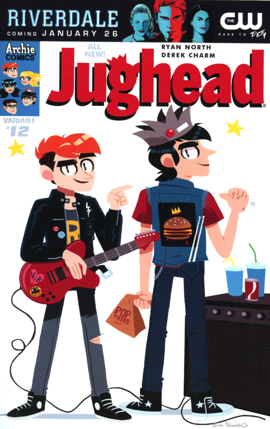 Jughead Vol 3 #12 Cover B Variant Erin Hunting Cover