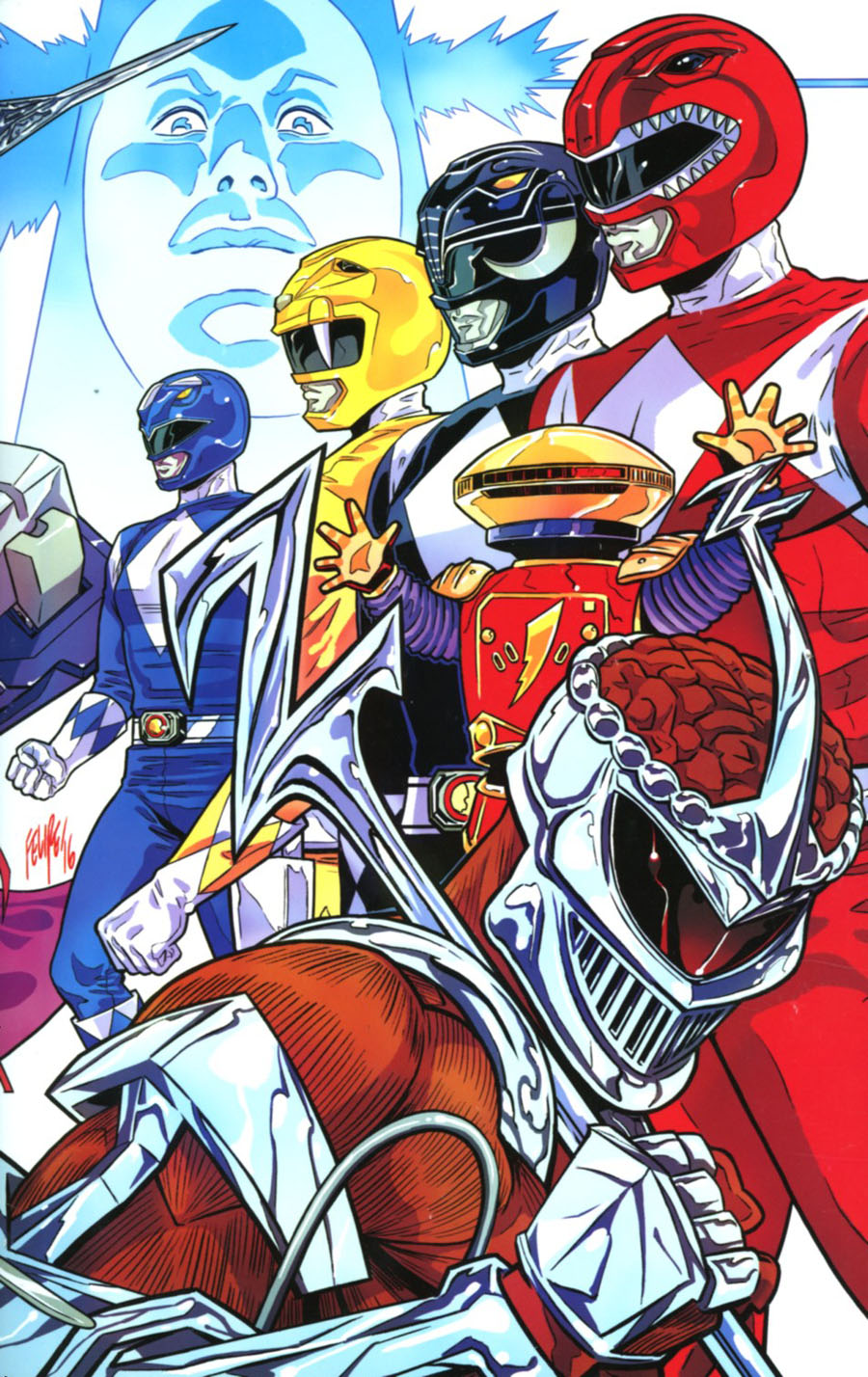 Mighty Morphin Power Rangers 2016 Annual #1 Cover E NYCC Exclusive Felipe Smith Variant Cover