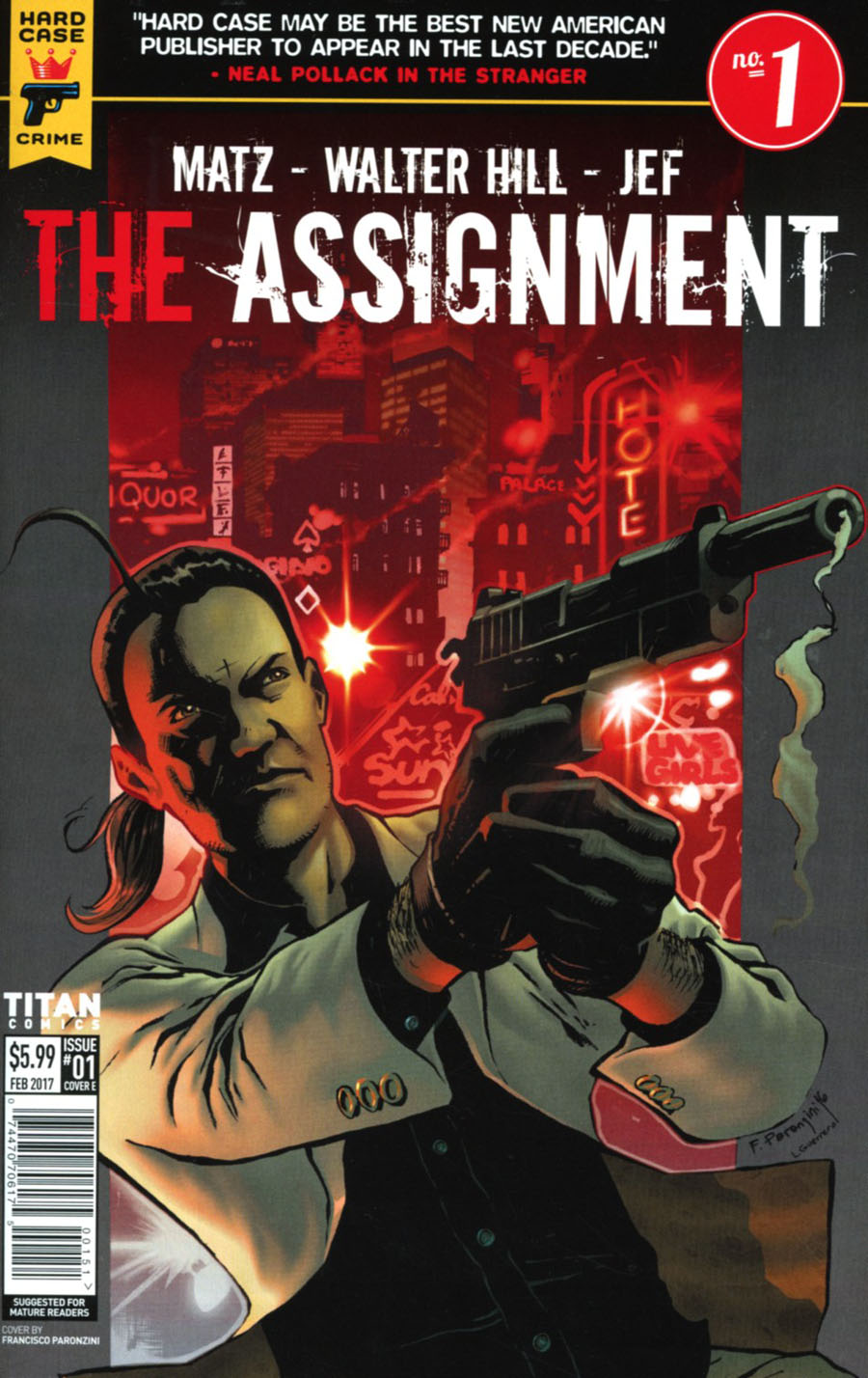 Hard Case Crime Assignment #1 Cover E Variant Francisco Paronzini Cover