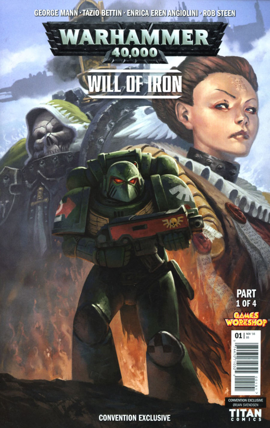 Warhammer 40000 Will Of Iron #1 Cover G NYCC Exclusive Orjan Svendsen Variant Cover