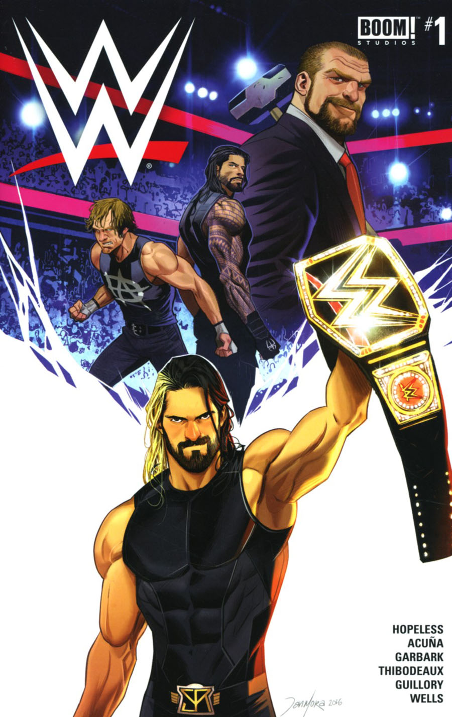 WWE #1 Cover A Regular Dan Mora Cover