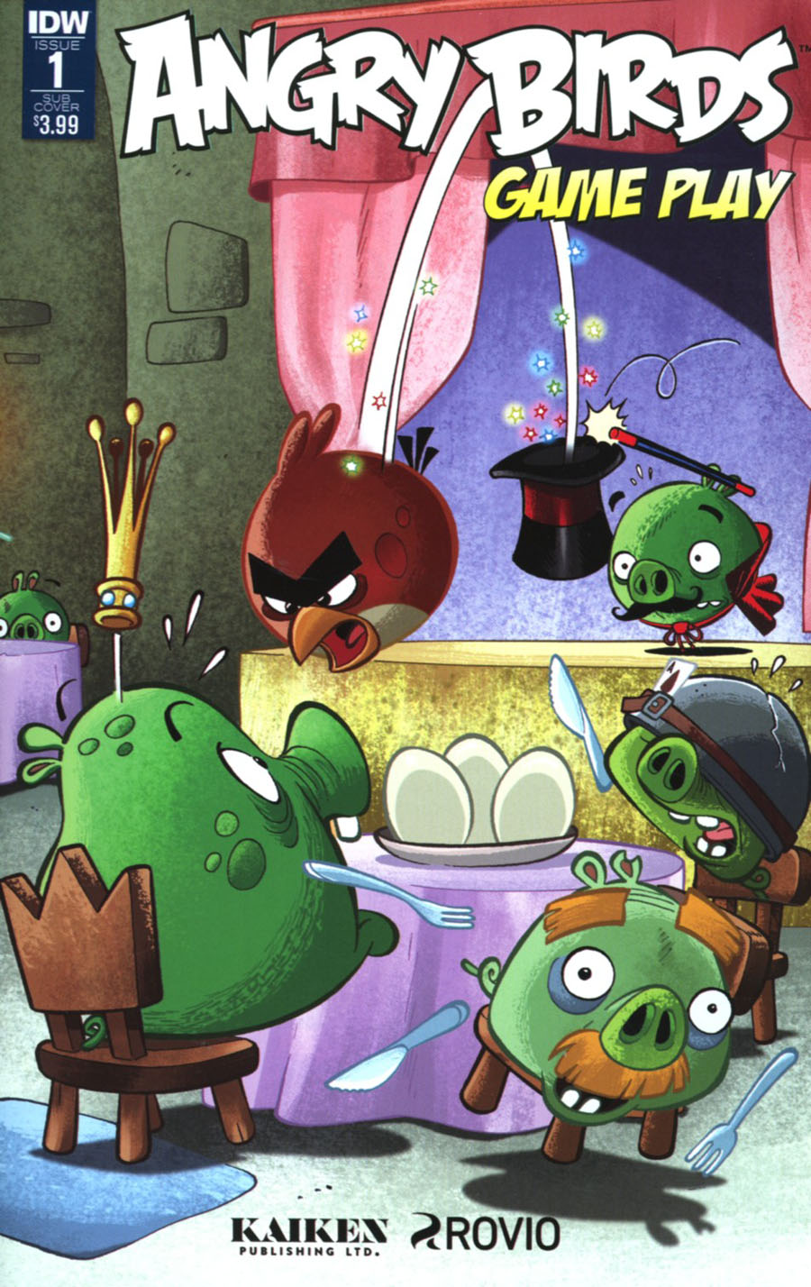 Angry Birds Comics Game Play #1 Cover B Variant Paco Rodriques Subscription Cover