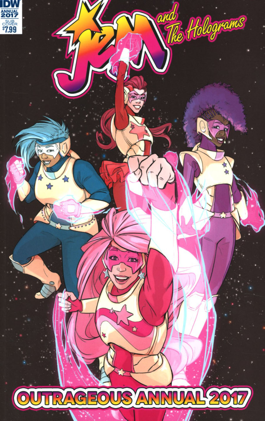Jem And The Holograms Annual 2017 Cover B Variatn Becca Farrow Subscription Cover