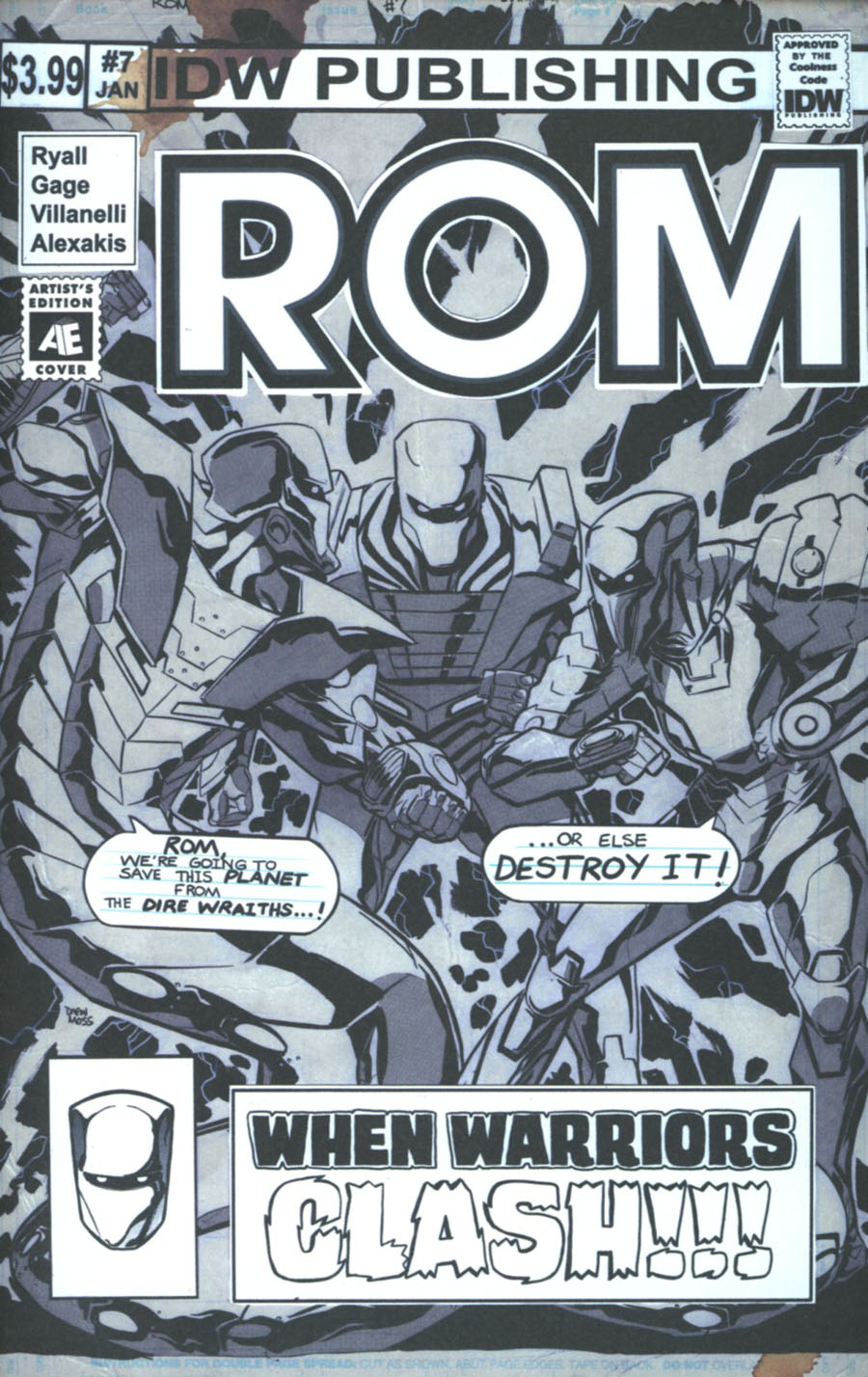 ROM Vol 2 #7 Cover B Variant Drew Moss Artists Edition Cover