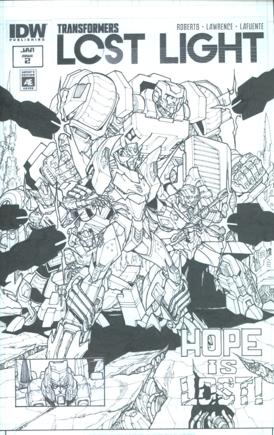 Transformers Lost Light #2 Cover B Variant Alex Milne Artists Edition Cover