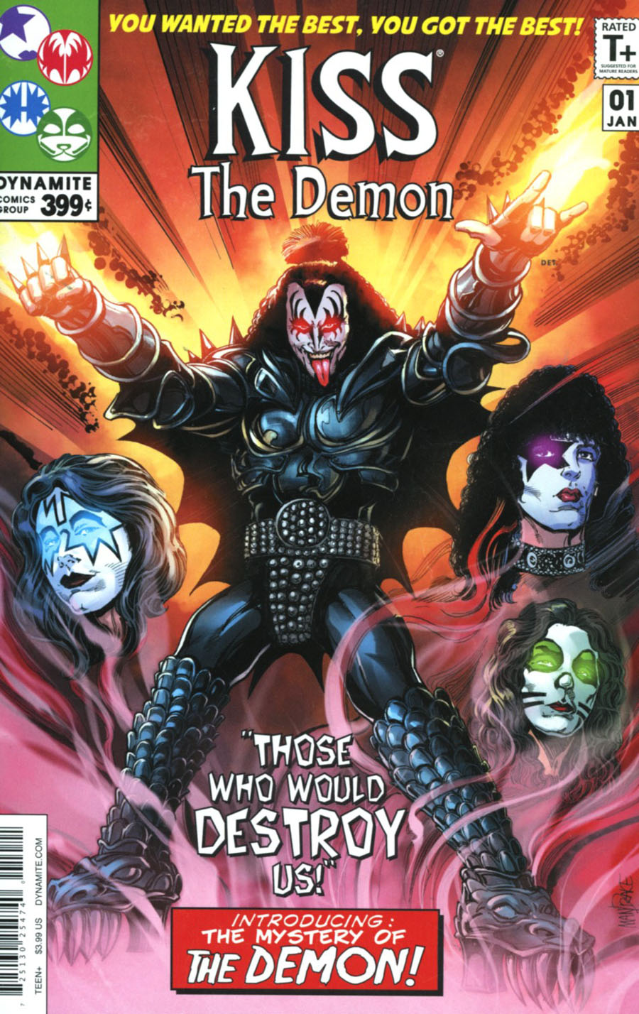 KISS The Demon #1 Cover B Variant Tom Mandrake Fantastic Four Homage Cover