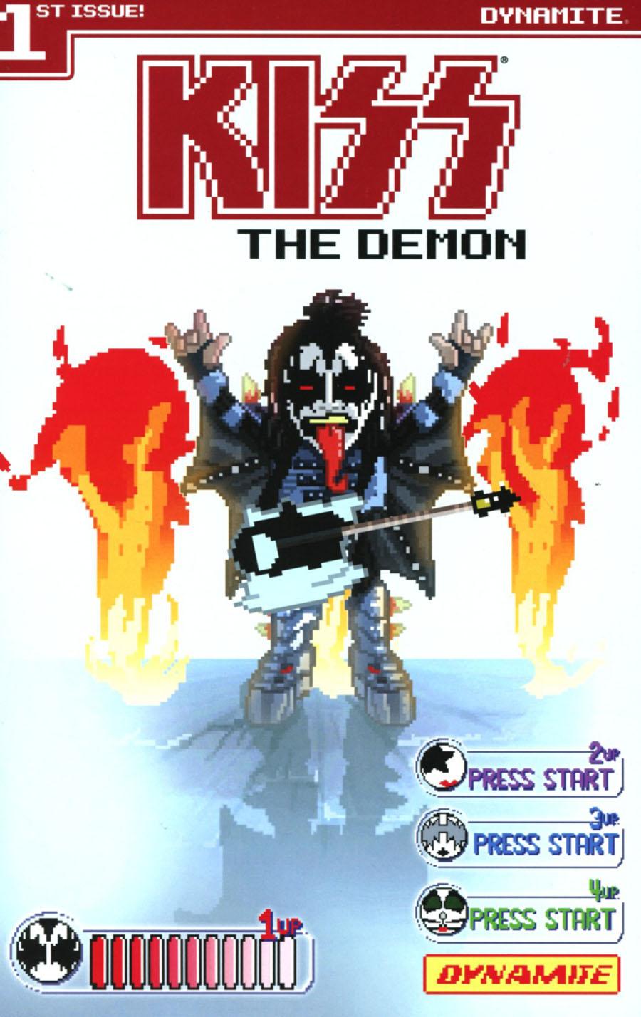 KISS The Demon #1 Cover C Variant Michael Adams 8-Bit Cover