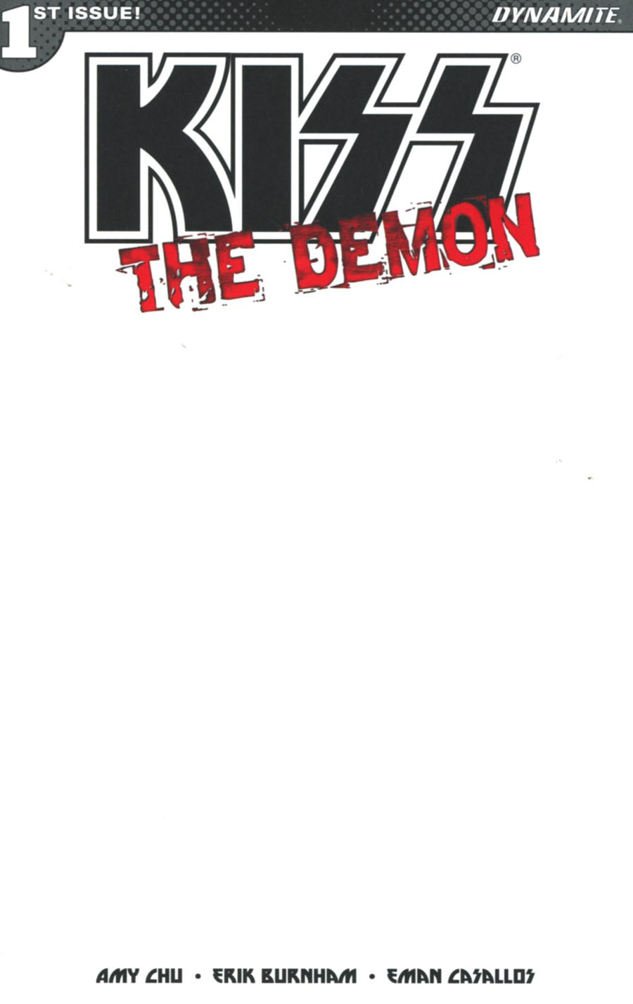 KISS The Demon #1 Cover I Variant Blank Authentix Cover