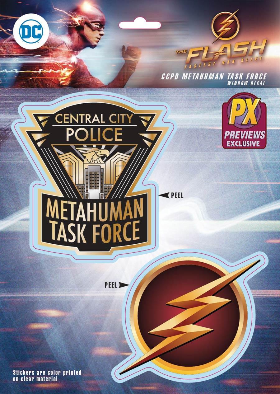 Flash TV CCPD Metahuman Taskforce Previews Exclusive Decal