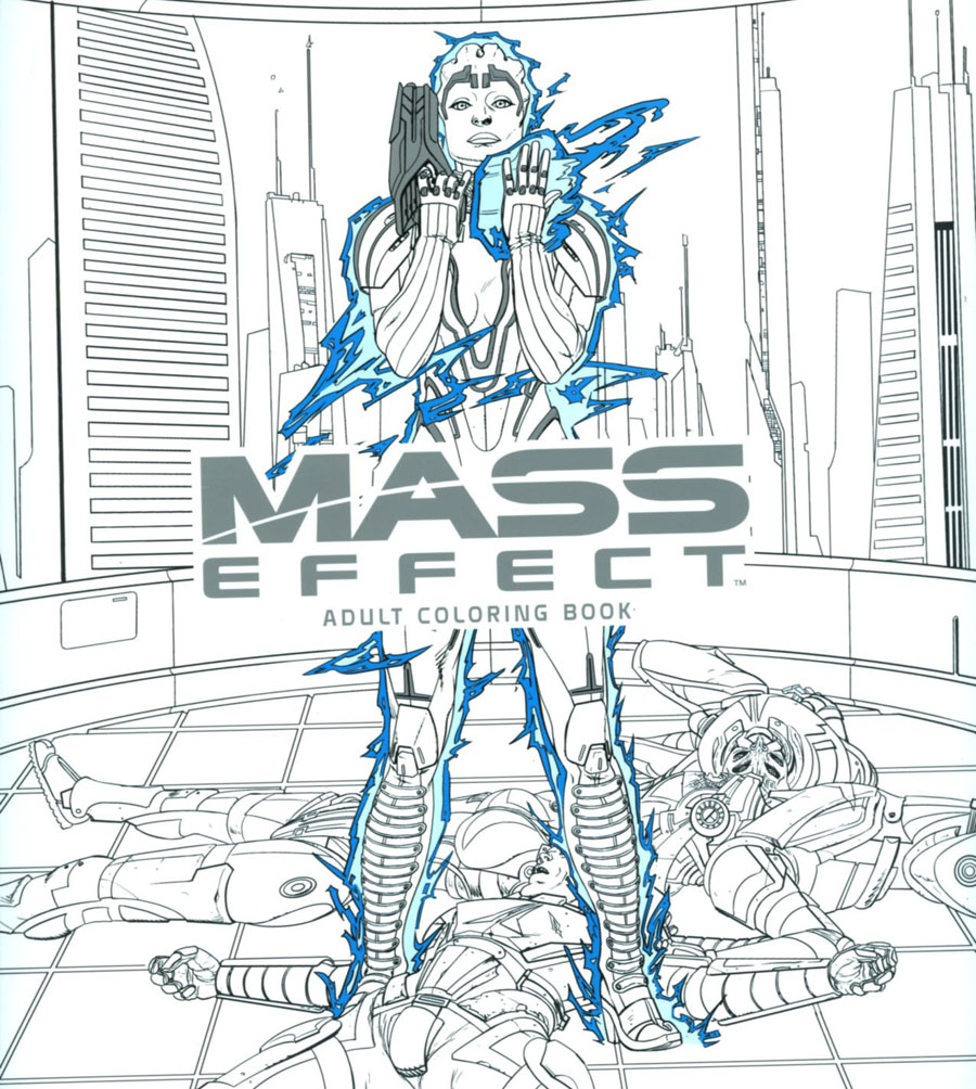 Mass Effect Adult Coloring Book TP