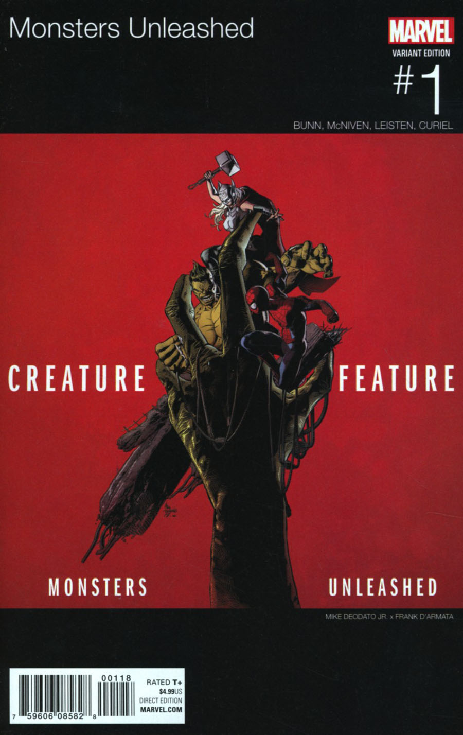 Monsters Unleashed #1 Cover F Variant Marvel Hip-Hop Cover