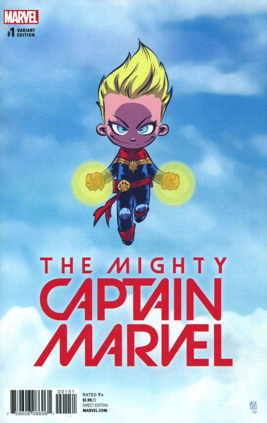 Mighty Captain Marvel #1 Cover C Variant Skottie Young Baby Cover (Marvel Now Tie-In)