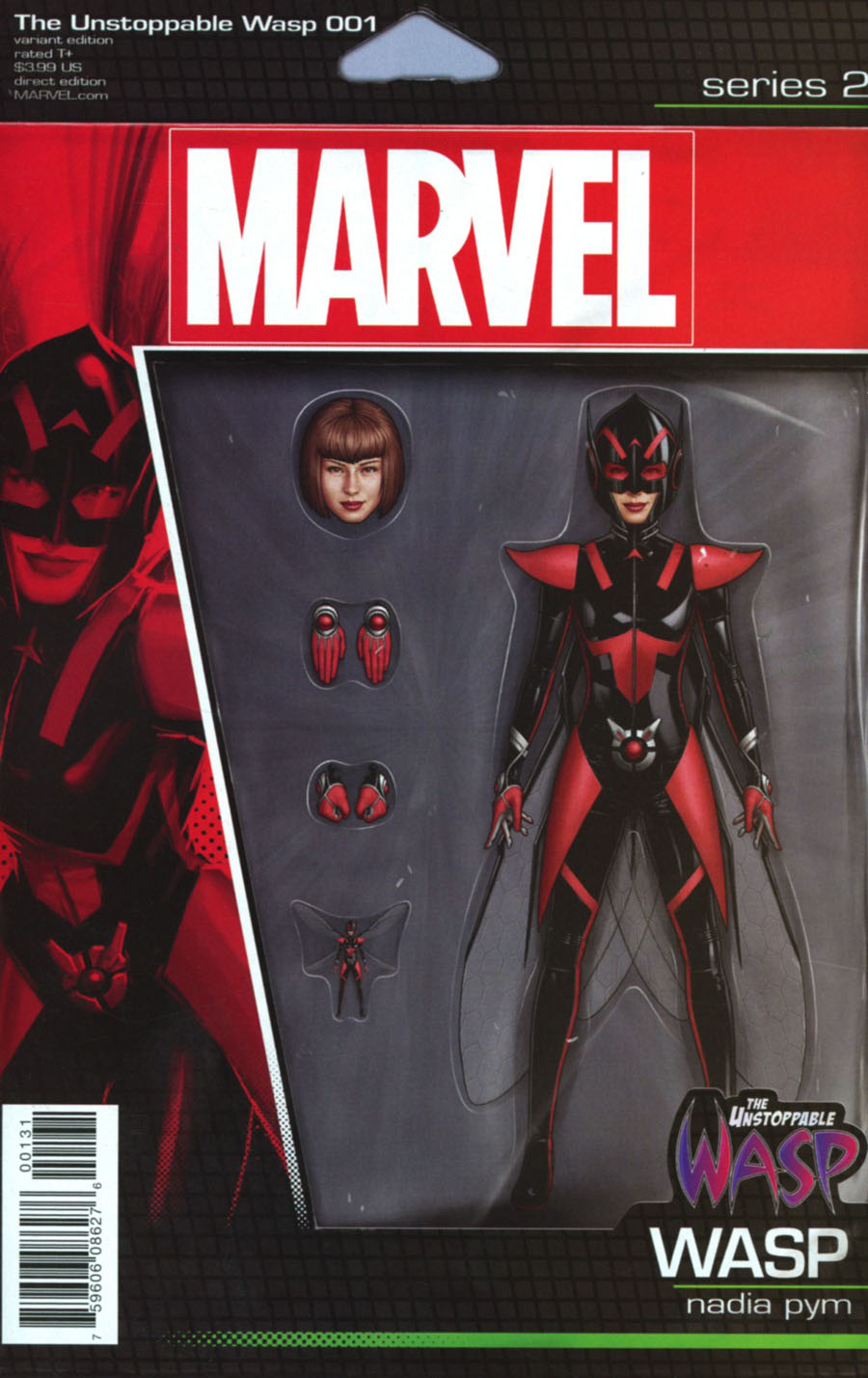Unstoppable Wasp #1 Cover C Variant John Tyler Christopher Action Figure Cover (Marvel Now Tie-In)