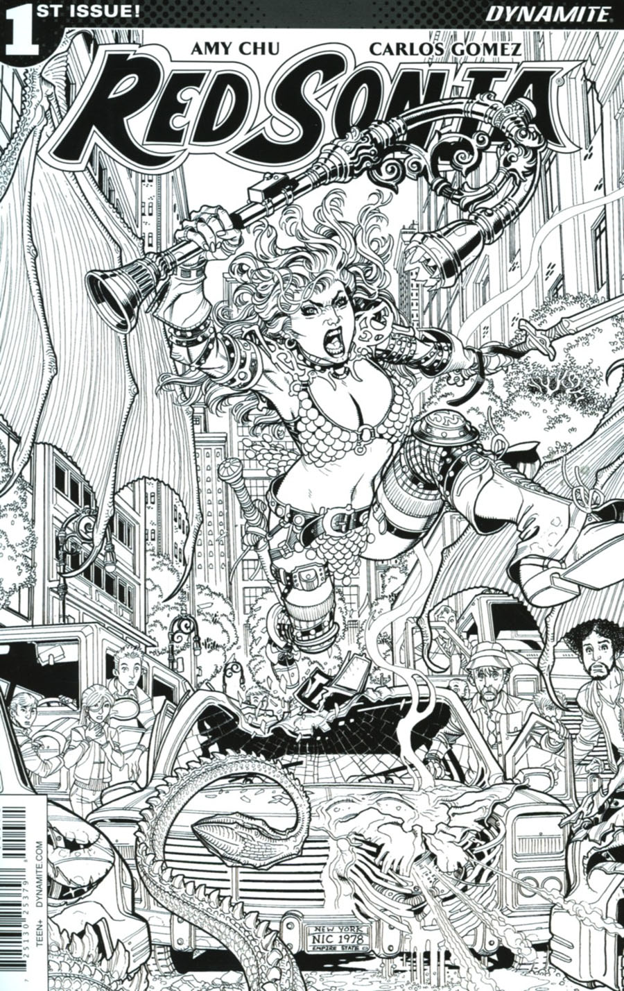 Red Sonja Vol 7 #1 Cover G Incentive Nick Bradshaw Black & White Cover