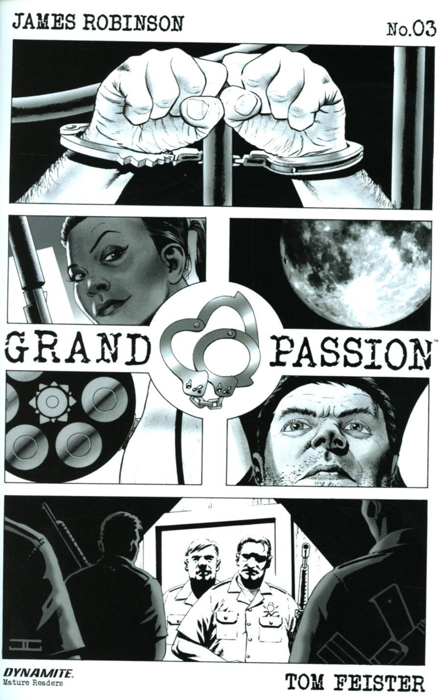 Grand Passion #3 Cover B Incentive John Cassaday Black & White Cover
