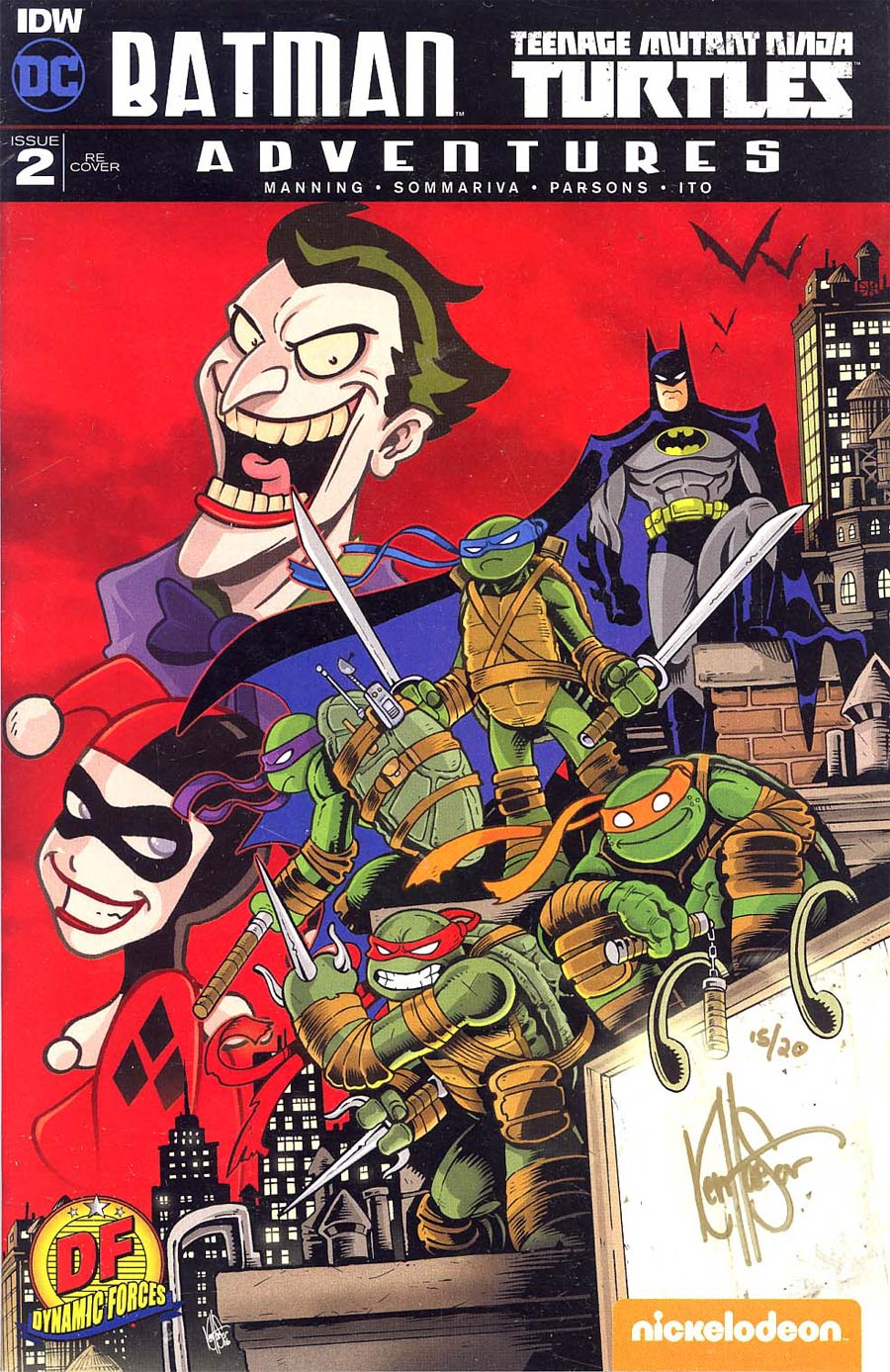 Batman Teenage Mutant Ninja Turtles Adventures #2 Cover F DF Exclusive Ken Haeser Variant Cover Signed By Ken Haeser