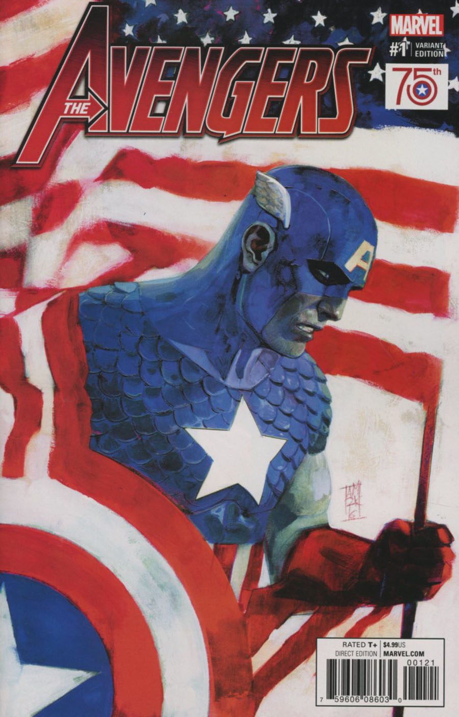 Avengers Vol 6 #1 Cover H Incentive Captain America 75th Anniversary Variant Cover (Marvel Now Tie-In)