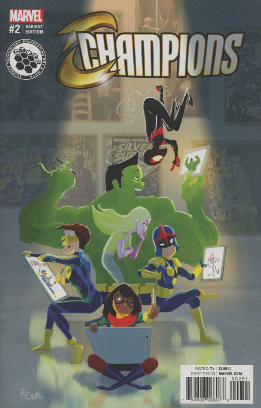 Champions (Marvel) Vol 2 #2 Cover E Incentive Pascal Campion STEAM Variant Cover