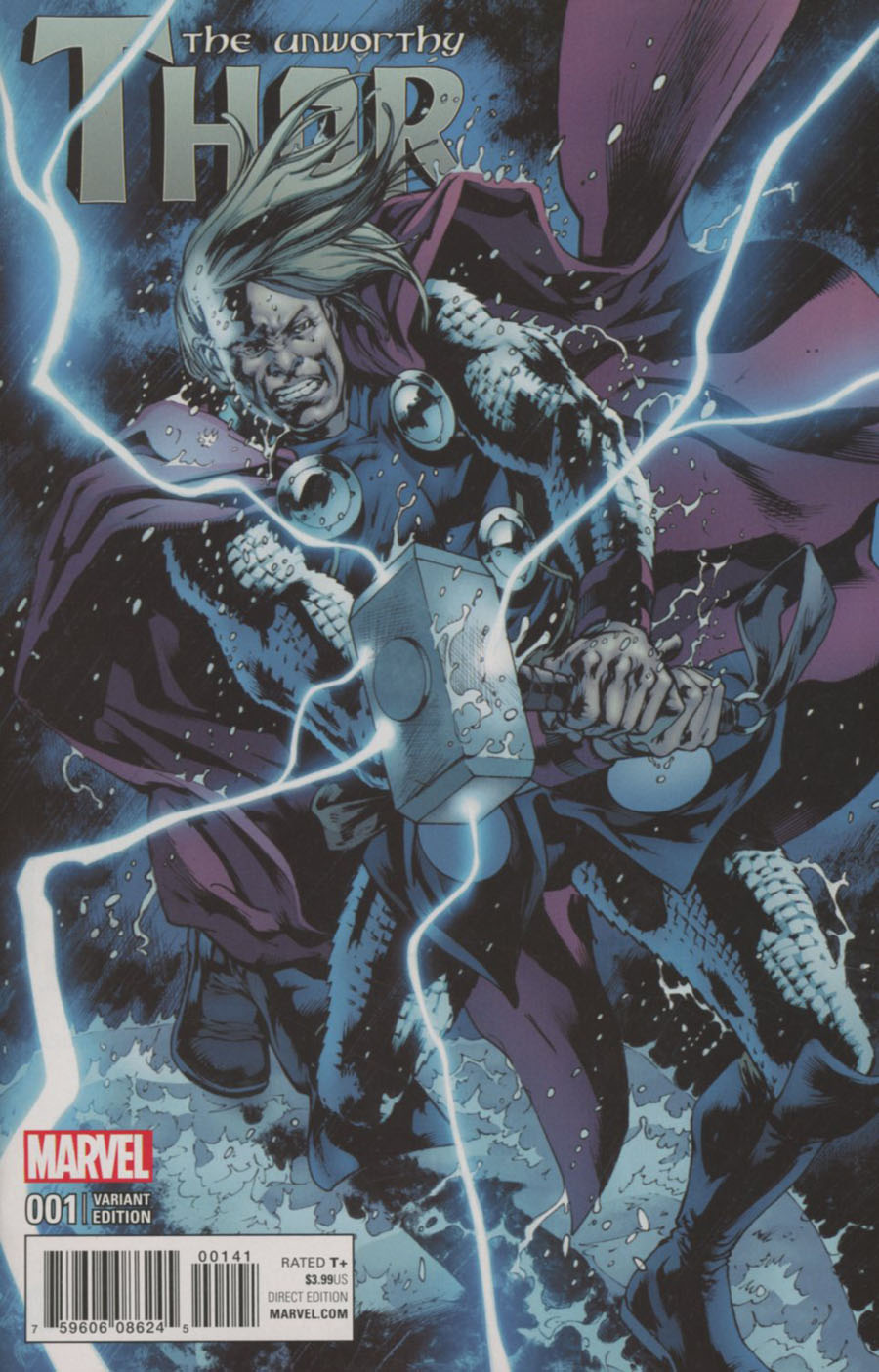 Unworthy Thor #1 Cover F Incentive Bryan Hitch Variant Cover (Marvel Now Tie-In)