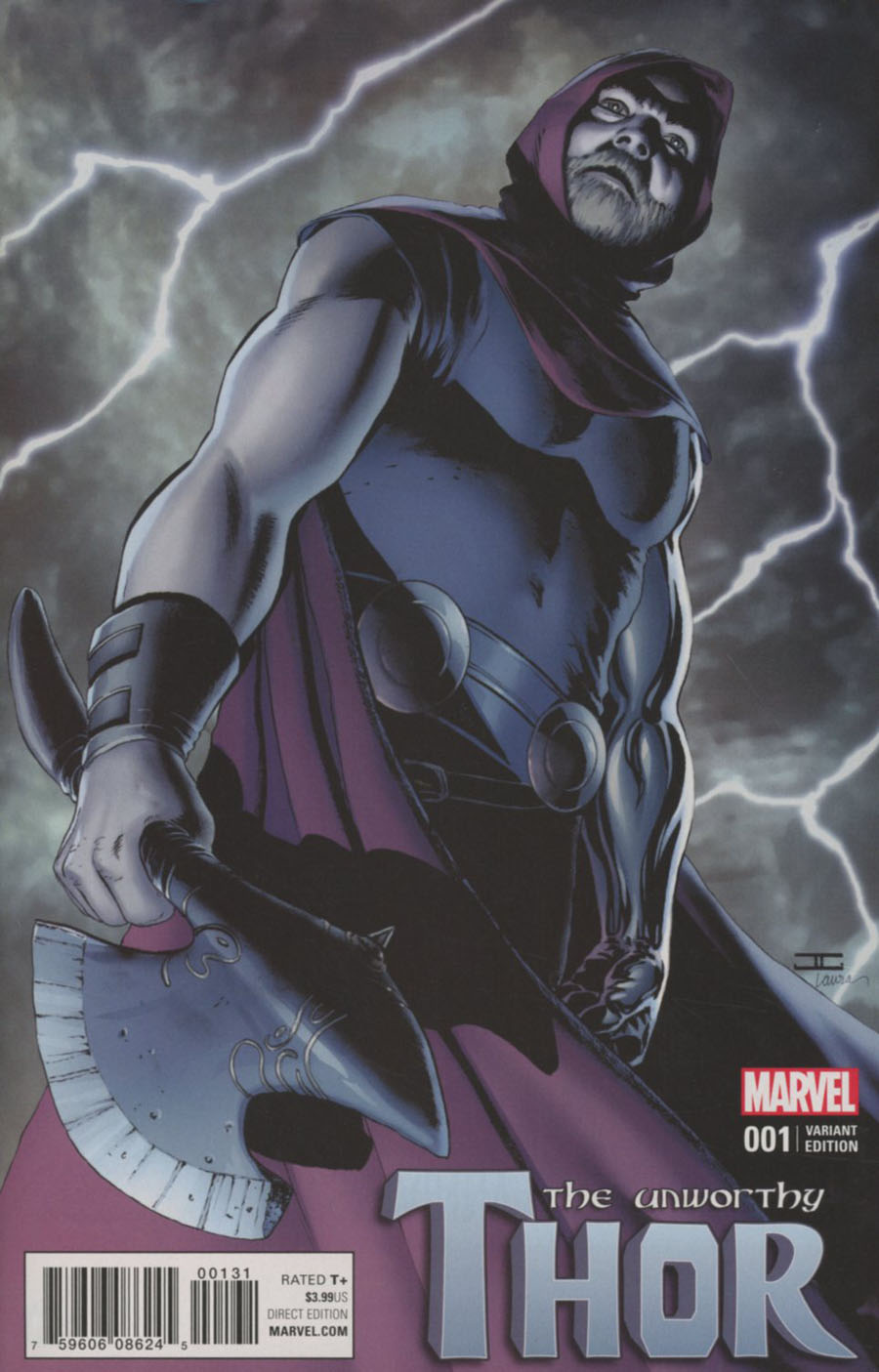 Unworthy Thor #1 Cover G Incentive John Cassaday Variant Cover (Marvel Now Tie-In)