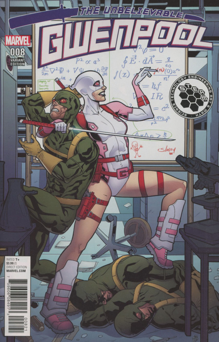 Gwenpool #8 Cover C Incentive Will Sliney STEAM Variant Cover