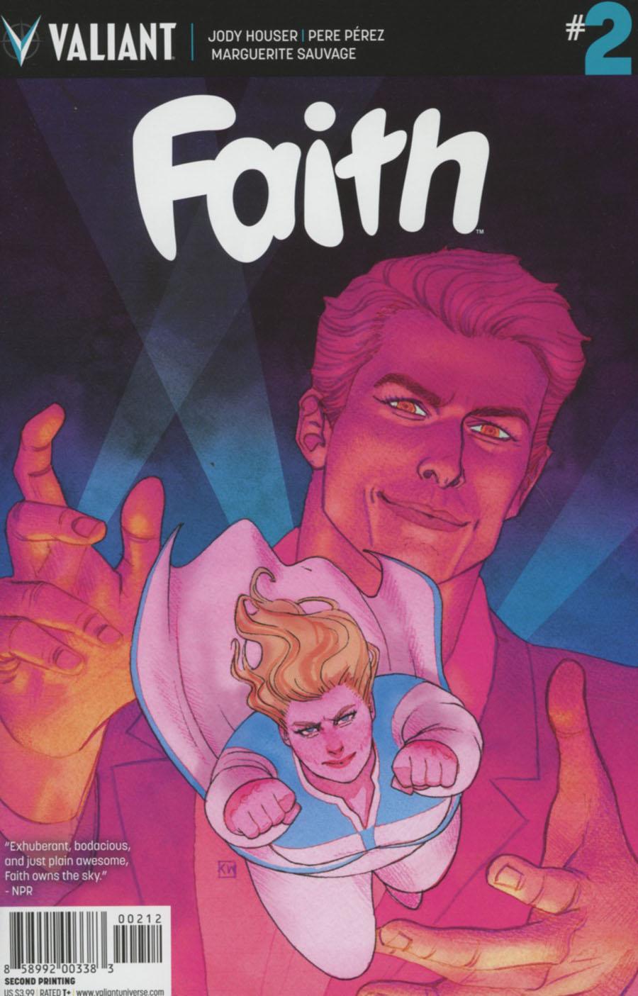 Faith (Valiant Entertainment) #2 Cover G 2nd Ptg Kevin Wada Variant Cover