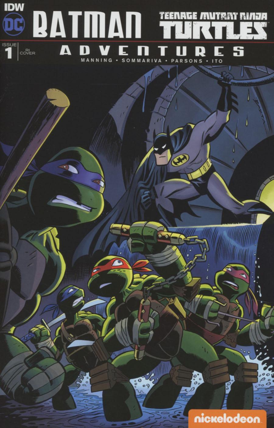 Batman Teenage Mutant Ninja Turtles Adventures #1 Cover E Incentive Hilary Barta Variant Cover