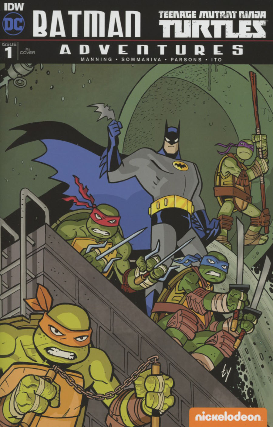 Batman Teenage Mutant Ninja Turtles Adventures #1 Cover F Incentive Ty Templeton Variant Cover