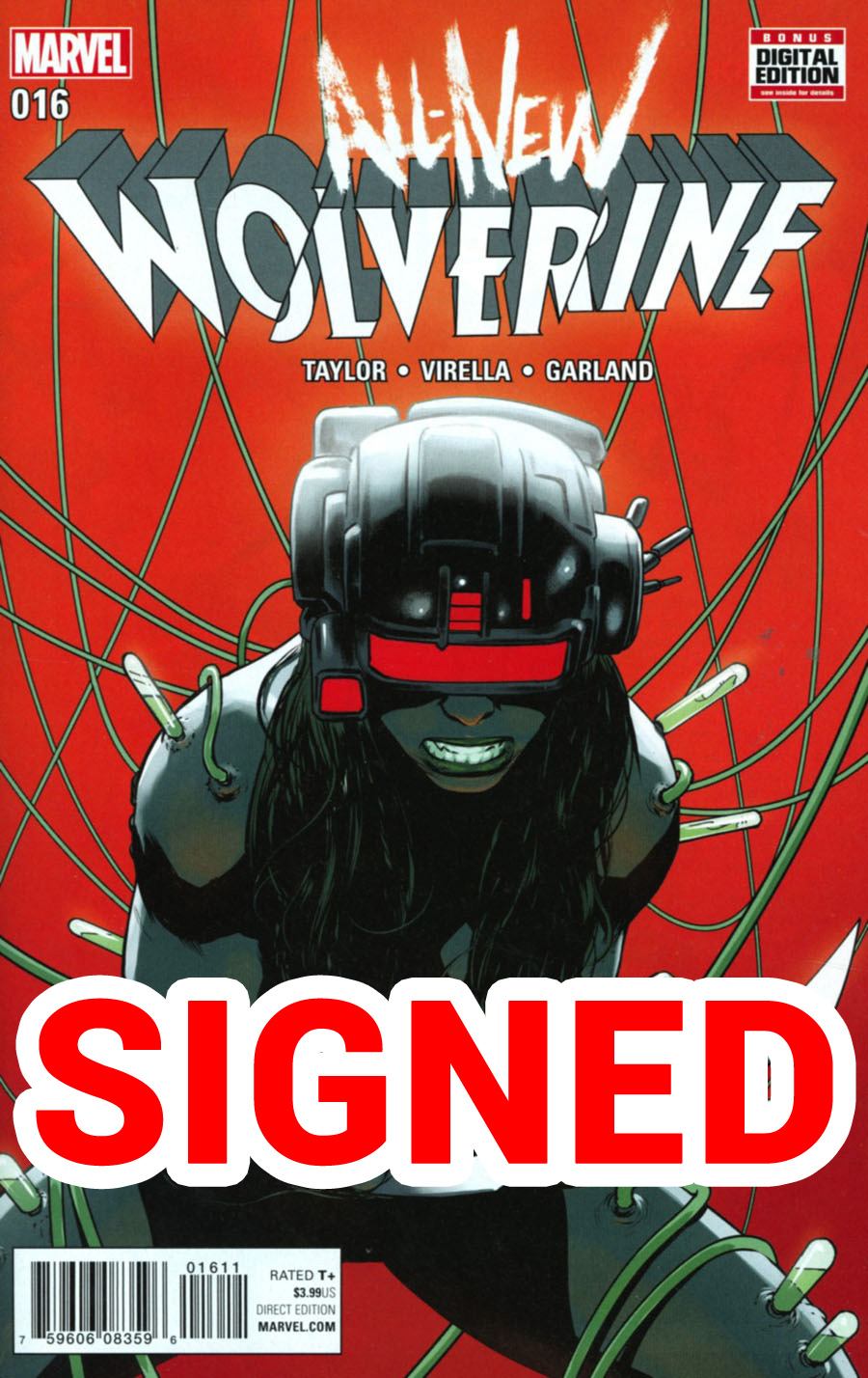All-New Wolverine #16 Cover C Regular David Lopez Cover Signed By Nik Virella (Limit 1 Per Customer)