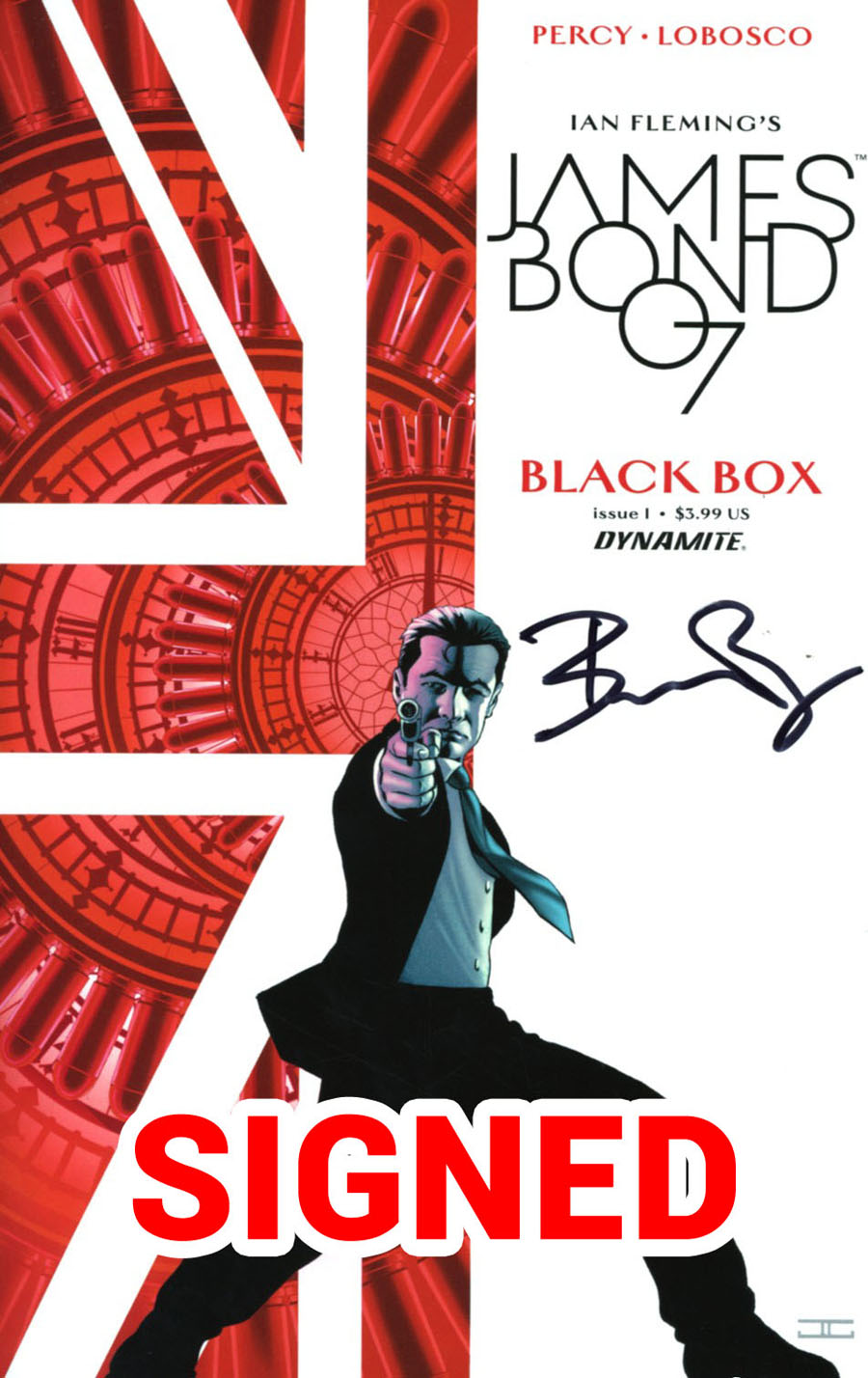 James Bond Vol 2 #1 Cover M Regular John Cassaday Cover Signed By Benjamin Percy