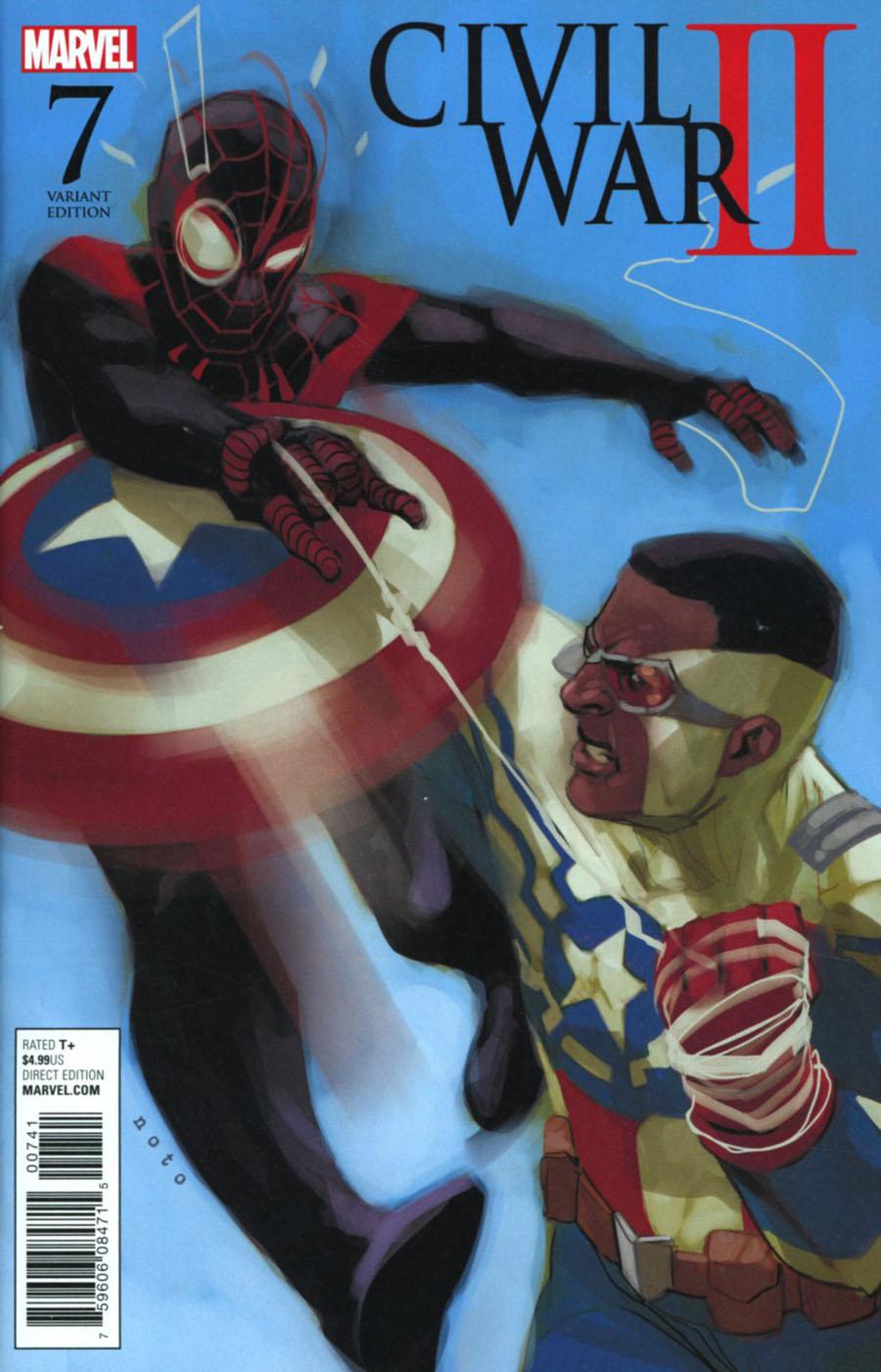 Civil War II #7 Cover E Incentive Phil Noto Miles Morales vs Sam Wilson Variant Cover