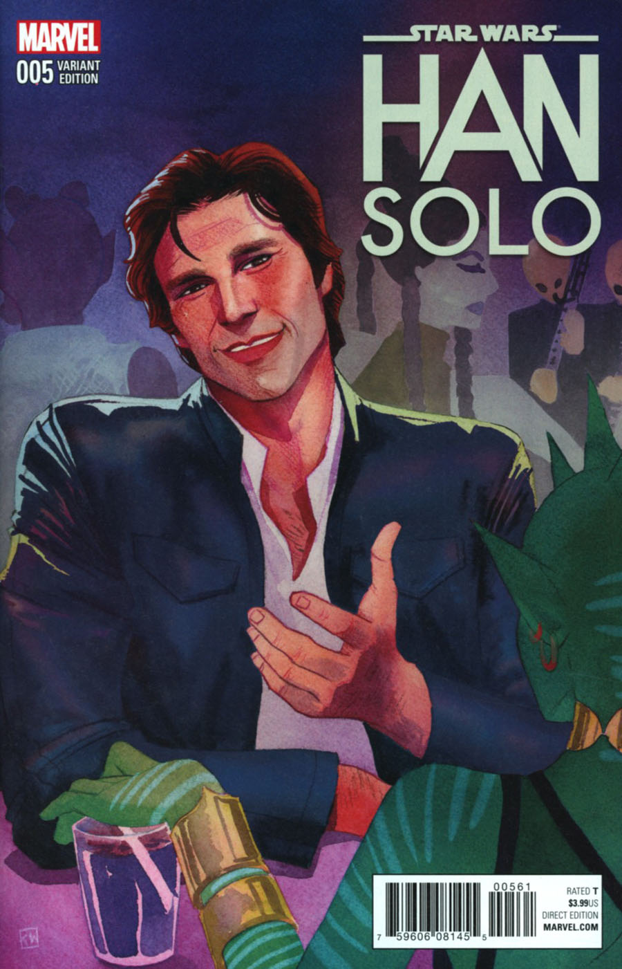 Star Wars Han Solo #5 Cover F Incentive Kevin Wada Variant Cover