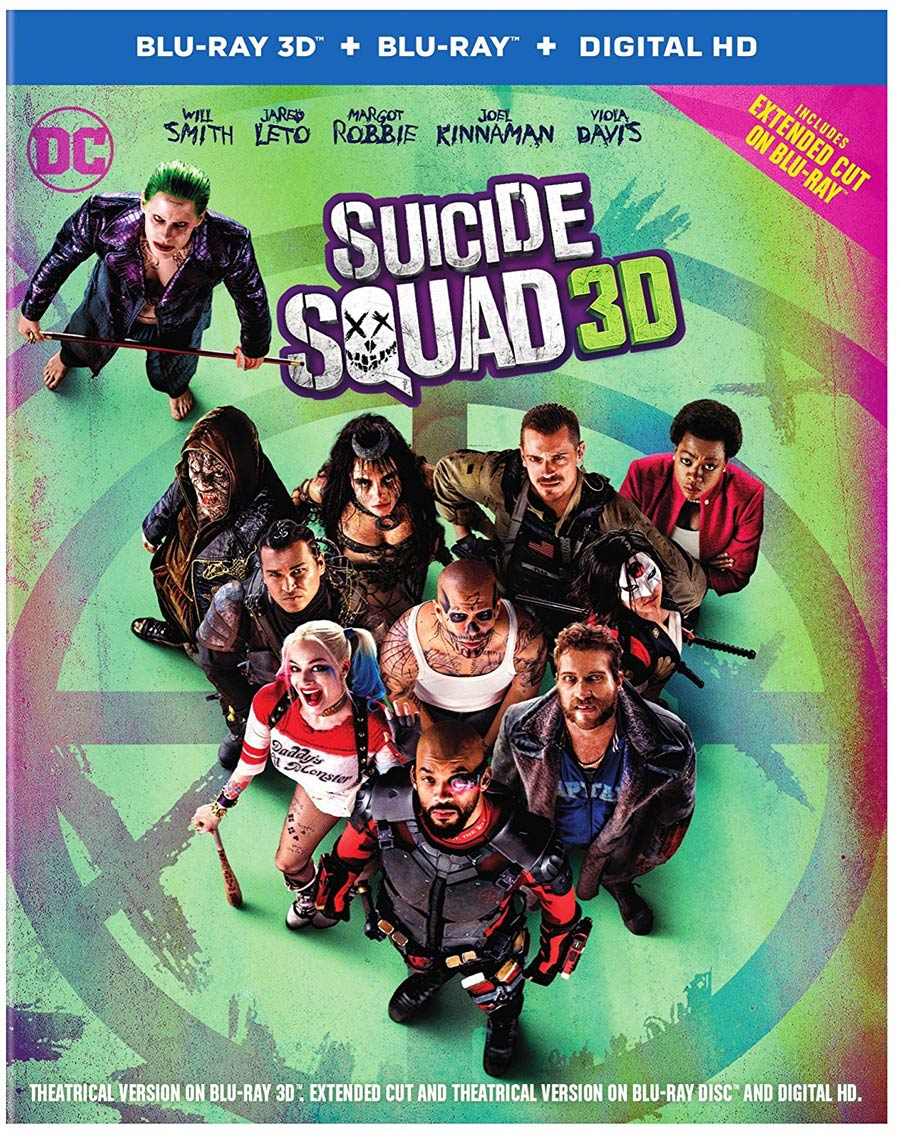 Suicide Squad Extended Cut 3D Bu-ray DVD