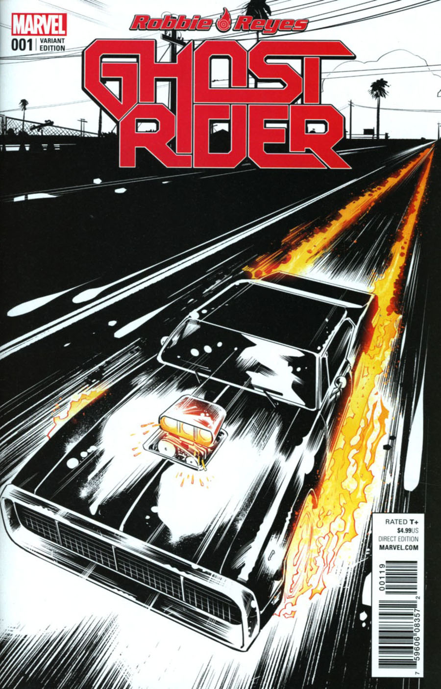 Ghost Rider Vol 7 #1 Cover I Incentive Danillo Beyruth Variant Cover (Marvel Now Tie-In)