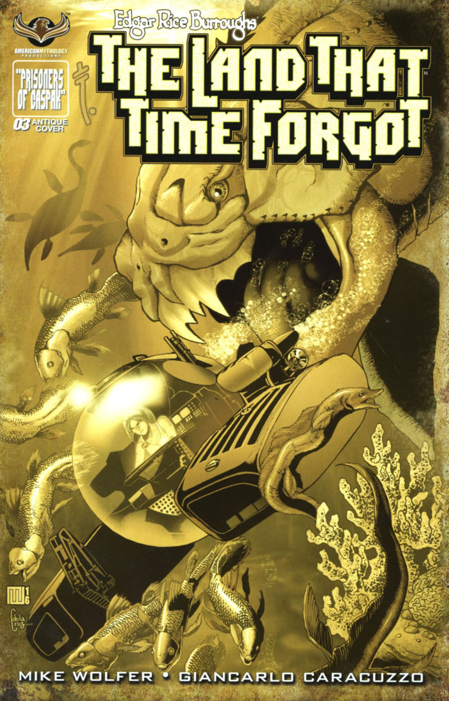 Edgar Rice Burroughs Land That Time Forgot #3 Cover C Incentive Turn Of The Century Variant Cover