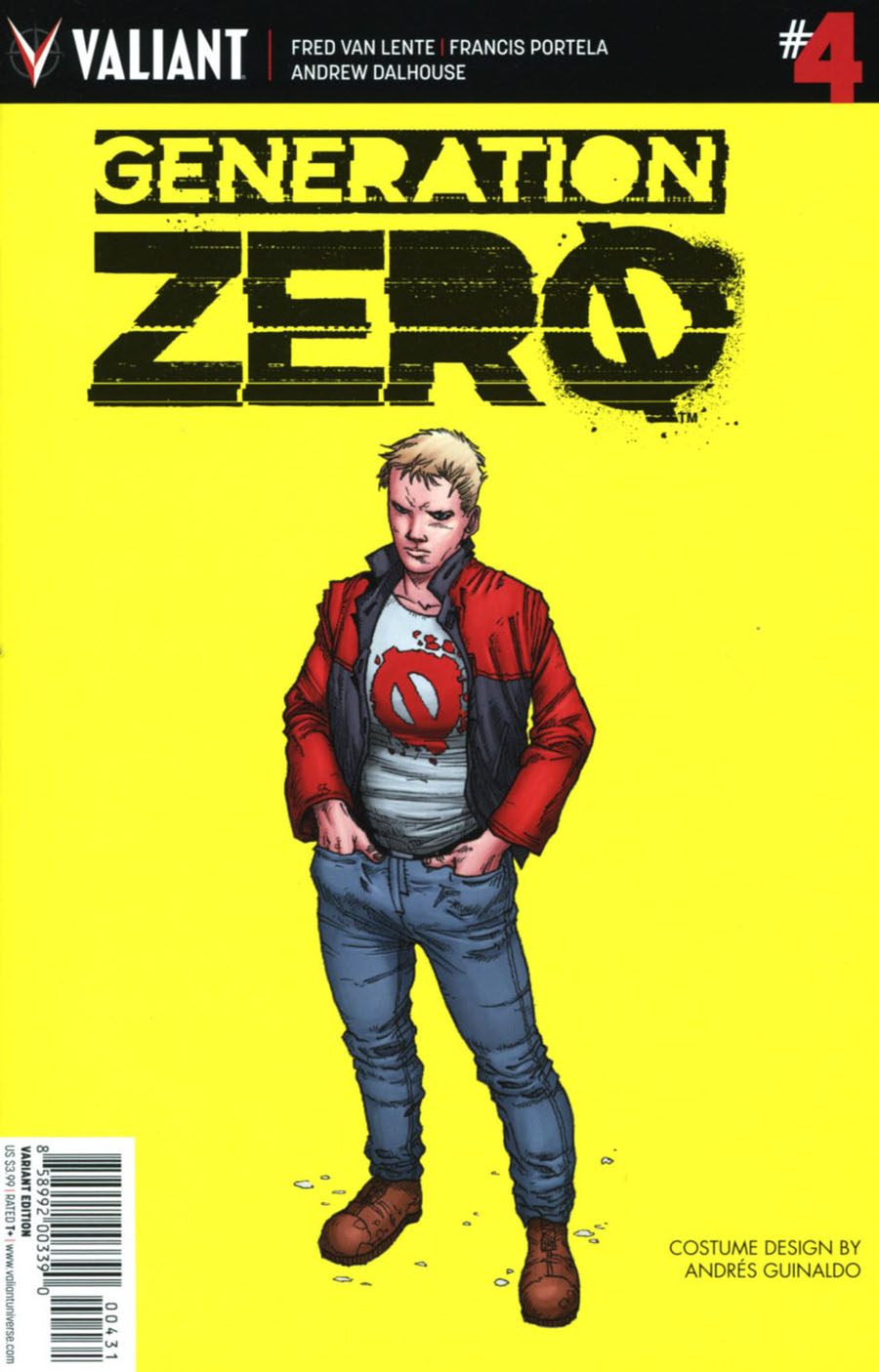 Generation Zero #4 Cover C Incentive Andres Guinaldo Character Design Variant Cover