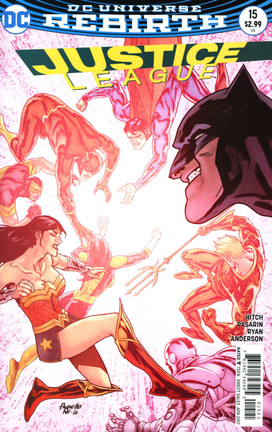 Justice League Vol 3 #15 Cover B Variant Yanick Paquette Cover