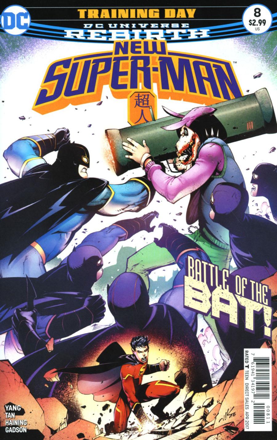 New Super-Man #8 Cover A Regular Viktor Bogdanovic Cover