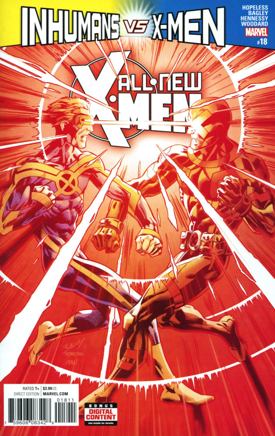 All-New X-Men Vol 2 #18 Cover A Regular Mark Bagley Cover (Inhumans vs X-Men Tie-In)