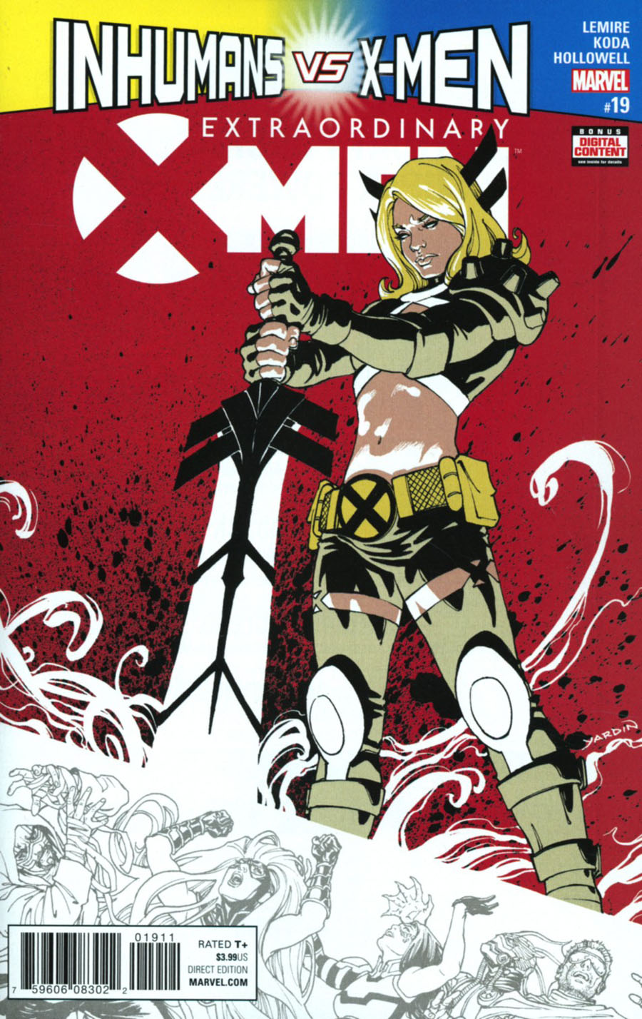 Extraordinary X-Men #19 Cover A Regular David Yardin Cover (Inhumans vs X-Men Tie-In)