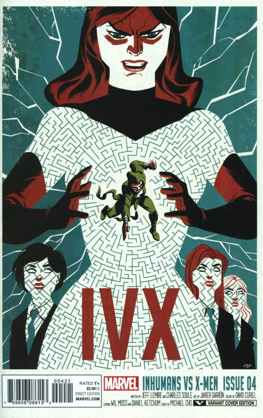 Inhumans vs X-Men #4 Cover B Variant Michael Cho Cover