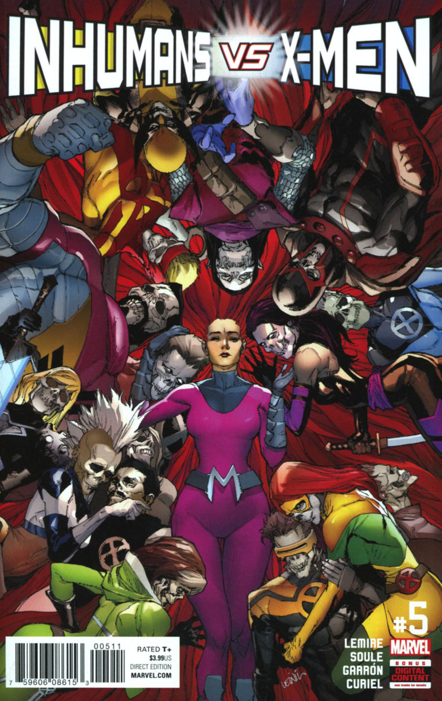 Inhumans vs X-Men #5 Cover A Regular Leinil Francis Yu Cover